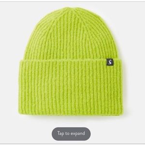 Joules lime beanie.
